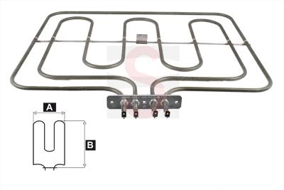 Resistencia horno electrico balay lynx 1000w 2300w grill for Hornos empotrados electricos balay